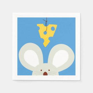 Ratón y queso servilleta desechable