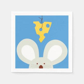 Ratón y queso servilletas desechables
