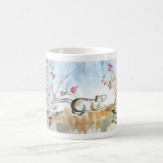 Ratón y taza de las bayas