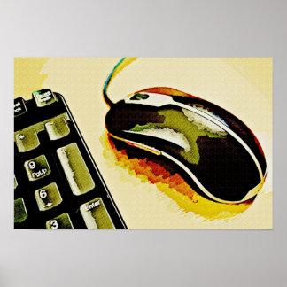 Ratón y teclado póster