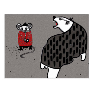 Ratón y un matón del oso postal