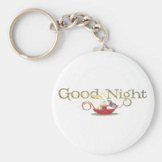 Ratón y vela de las buenas noches llavero redondo tipo pin