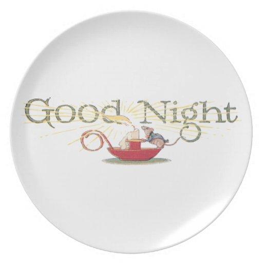 Ratón y vela de las buenas noches platos para fiestas