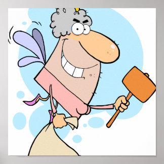 ratoncito Pérez divertido del dibujo animado con e Póster