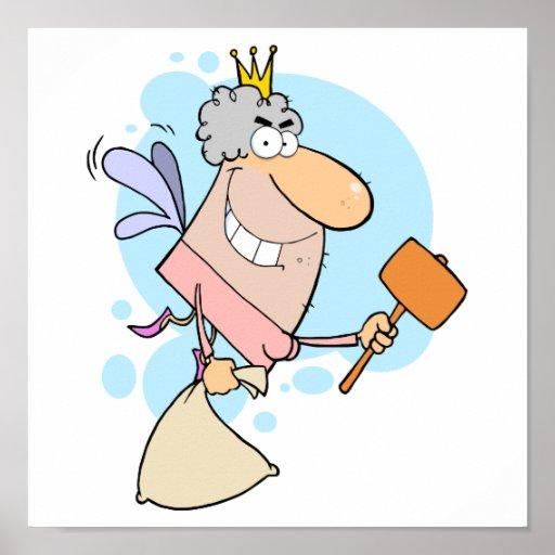ratoncito Pérez divertido del dibujo animado con Póster