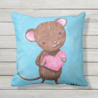 Ratones adorables lindos de la almohada de tiro cojín de exterior
