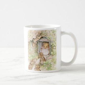 Ratones adorables taza de café