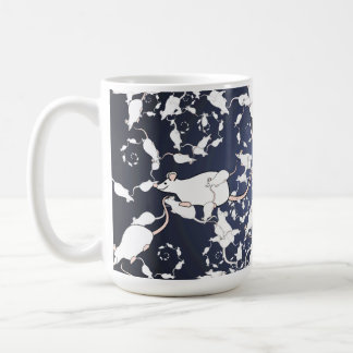 Ratones blancos lindos. En espacio profundo Taza De Café