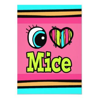 Ratones brillantes del amor del corazón I del ojo Invitación 11,4 X 15,8 Cm