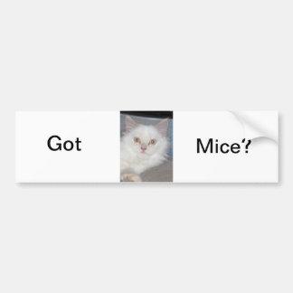 ¿Ratones conseguidos? Etiqueta De Parachoque