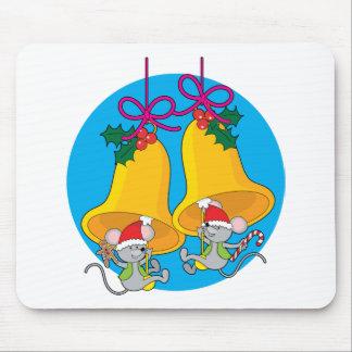 Ratones de Bell de navidad Tapete De Ratones