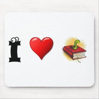 Ratones de biblioteca del corazón I Alfombrillas De Ratón