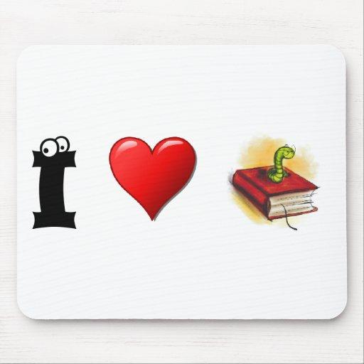 Ratones de biblioteca del corazón I Alfombrillas De Ratones