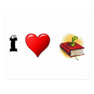 Ratones de biblioteca del corazón I Postal