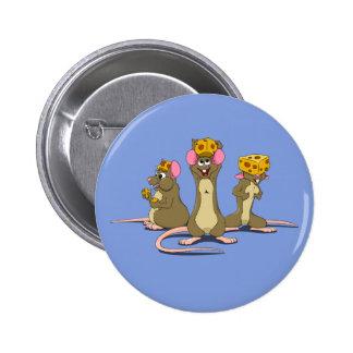 Ratones de Cheesehead Pin Redondo 5 Cm