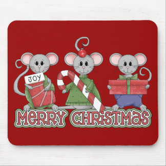 Ratones de las Felices Navidad Tapete De Raton