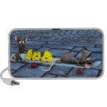 ratones de Toon en el monopatín iPod Altavoces