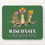 Ratones de Wisconsin Cheesehead Alfombrillas De Ratones