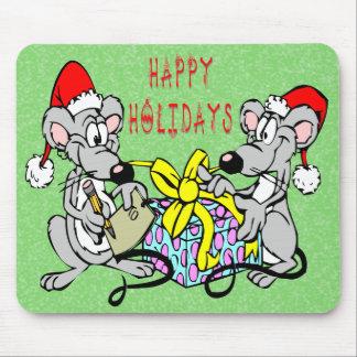 Ratones del navidad alfombrilla de ratón