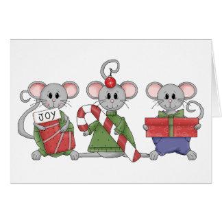Ratones del navidad felicitaciones