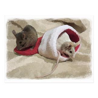 """Ratones del navidad"" Postales"