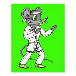 """Ratones del ratón de los artes marciales folleto 8.5"""" x 11"""""""