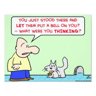 """ratones del ratón del gato de la campana invitación 4.25"""" x 5.5"""""""