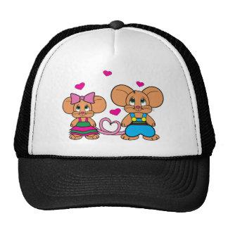 Ratones en amor Pepito y Pepita Gorros