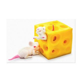 Ratones en lona divertida de los juguetes del ques lona envuelta para galerias