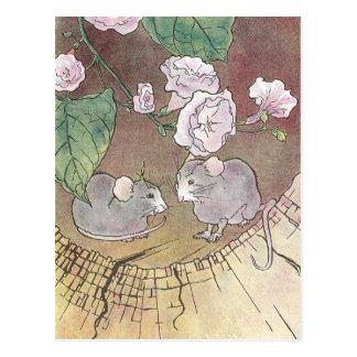 Ratones en registro con los rosas