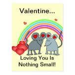 Ratones en tarjetas del día de San Valentín del am Tarjetas Postales