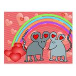 Ratones en tarjetas del día de San Valentín del am Postales