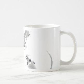 Ratones - estilo oriental taza básica blanca