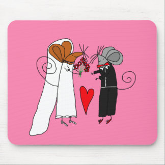 Ratones lindos del boda tapetes de raton