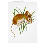 Ratones lindos, naturaleza animal de la acuarela d felicitaciones