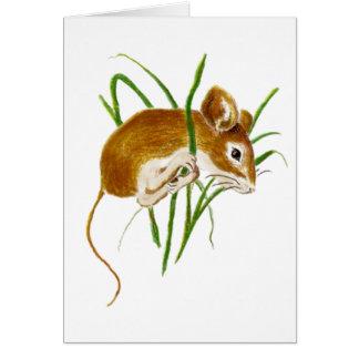 Ratones lindos, naturaleza animal de la acuarela d tarjeta de felicitación