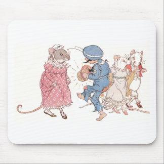 Ratones que bailan a la concertina alfombrilla de ratones