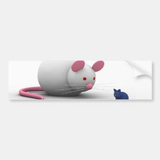 Ratones y juego del gato pegatina para auto