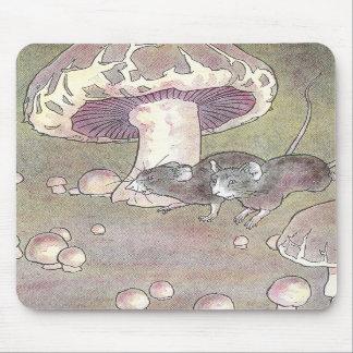 Ratones y setas alfombrilla de raton
