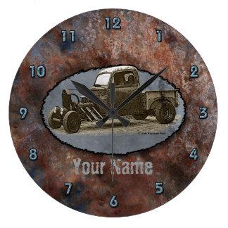 Ratrod Truck Rusty Metal Clock