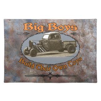 Ratrod Truck Rusty Metal Cloth Placemat