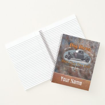 Beach Themed Ratrod Truck Rusty Metal Notebook