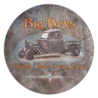 Ratrod Truck Rusty Metal Plate