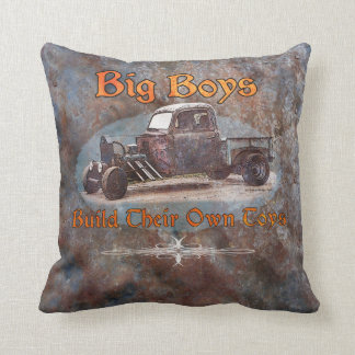 Ratrod Truck Rusty Metal Throw Pillow