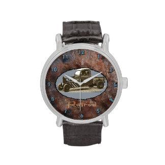 Ratrod Truck Rusty Metal Wrist Watch