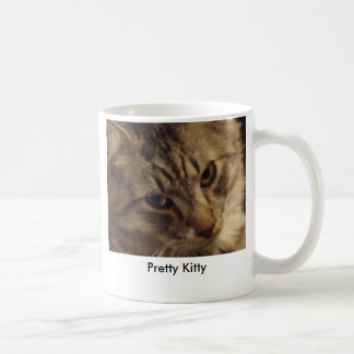 rats and cat videos 036, Pretty Kitty Classic White Coffee Mug
