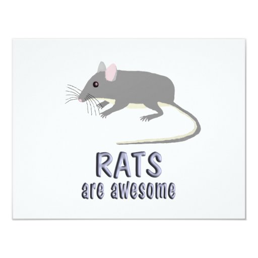 Rats are Awesome 4.25x5.5 Paper Invitation Card