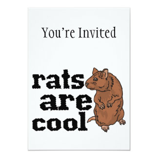 Rats Are Cool 5x7 Paper Invitation Card