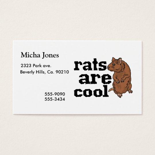 Rats Are Cool Business Card