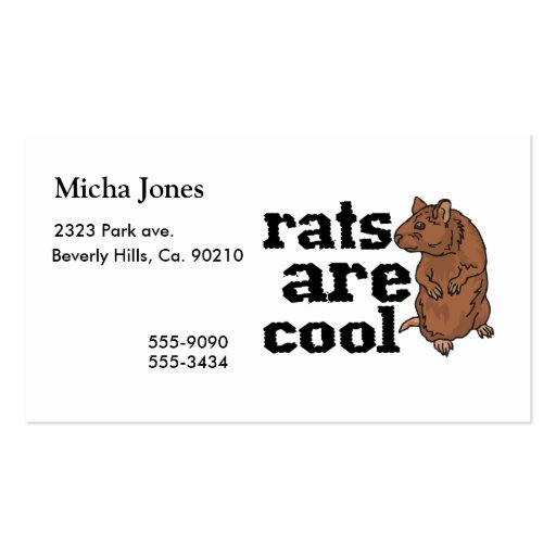 Rats Are Cool Business Card Templates